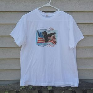 Other - Patriotic Tshirt Land of the Free Flag Eagle